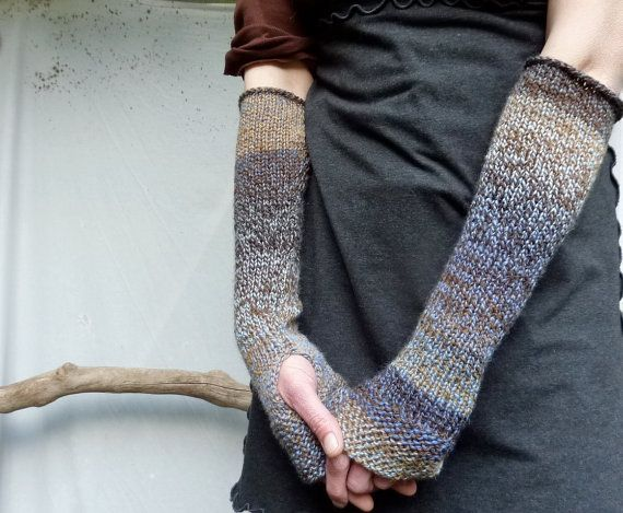 .: Hands Knits, Fingerless Gloves, Cable Gloves, Gauntlet Hands, Blue Wool Mixed, Storms Gauntlet, Fingerless Cable, Brown, Knits Hands