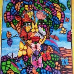 A Beautiful Mind! Fantastisk ansikts-/fjäril tavla från Kuba att ha i hemmet! De vågade och vackra färgerna kommer definitivt att lysa upp din tillvaro.  Länk till produkt: http://www.feelhome.se/produkt/a-beautiful-mind/  #Homedecoration #Canvas #olipainting #art #interior #design #Painting #handpainted #interiordesign #canvastavla #canvastavlor #cuba #kuba #colorful #BeautifulMind #Beautiful #Mind #fjäril #ansikte  #Natur  #Vardagsrum #Kontor #Abstrakt #Modernt