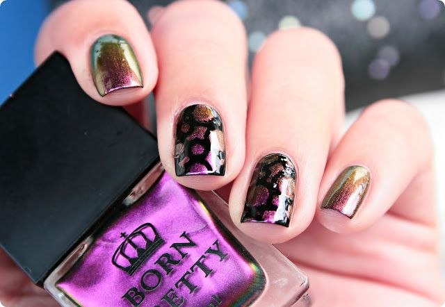 Malý koutek krásy: Born Pretty Chameleon Nail Polish #221 & nail art s šablonami BPS