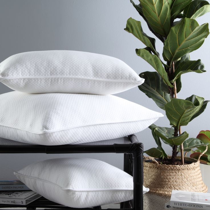 Cornell White brings beautiful texture to the bedroom with its white-on-white embossed basketweave pattern. Simple, yet sophisticated, the rounded edges are tailored with cotton sateen binding. Available as a European pillowcase, square cushion and long cushion. #privatecollection