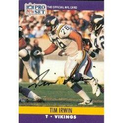 |   autographed  Card (Minnesota Vikings) 1990 Pro Set ...