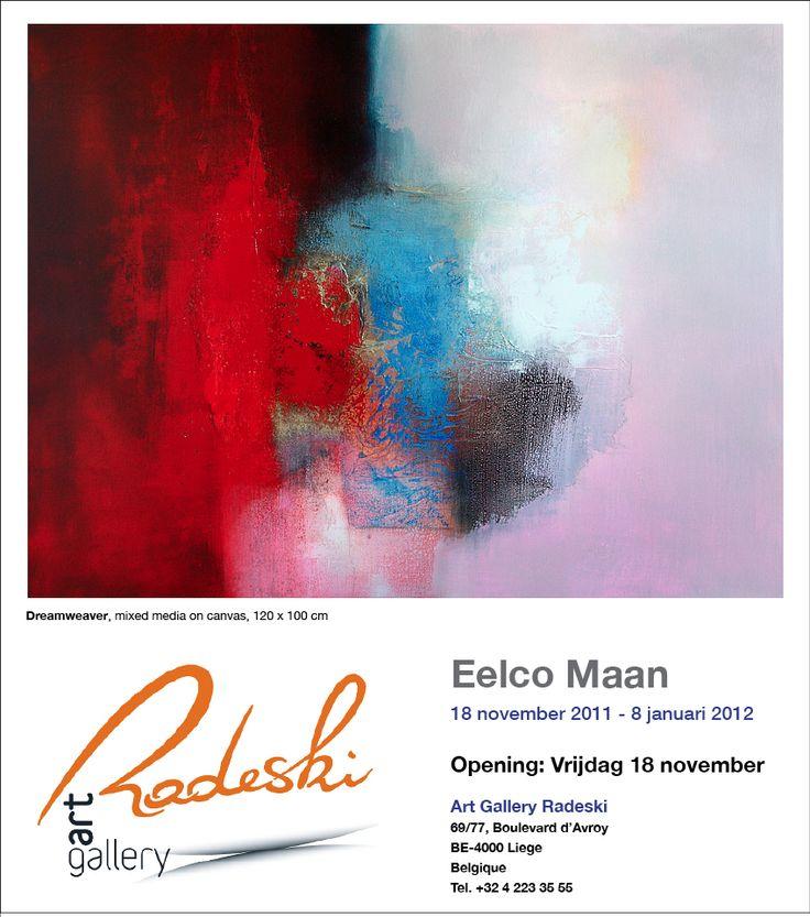Eelco Maan I lyrical abstract paintings I Galerie Radeski, Liege, Belgium, 2012