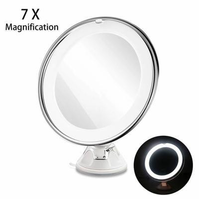 RUIMIO Mirror de Maquillage Réglable 7x Grossissement avec LED pour Voyage(Blanc) - Achat / Vente miroir salle de bain - Les soldes* sur Cdiscount ! Cdiscount