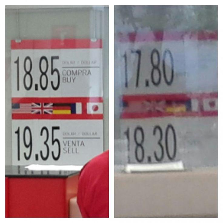 En sólo tres días el Santander pasa de vender el dólar en 19.35 a hacerlo en 18.30 | El Puntero