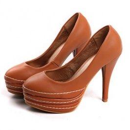 Ladies' Line Embellished High Heel Wedges Yellow