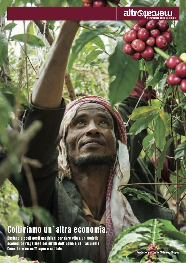 ---Dicembre 2013--- Coltiviamo un'altra economia. Bastano piccoli gesti quotidiani per dare vita a un modello  economico rispettoso dei diritti dell'uomo e dell'ambiente.  Come bere un caffè equo e solidale.