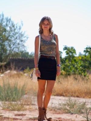 bagsandheels Outfit  AMISETA DE SHANA BOTINES DE SENDRA FALDA DE ZARA  Verano 2012. Cómo vestirse y combinar según bagsandheels el 17-9-2012