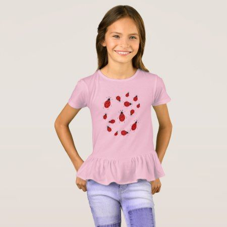Cute colorful ladybugs clip art T-Shirt - click to get yours right now!