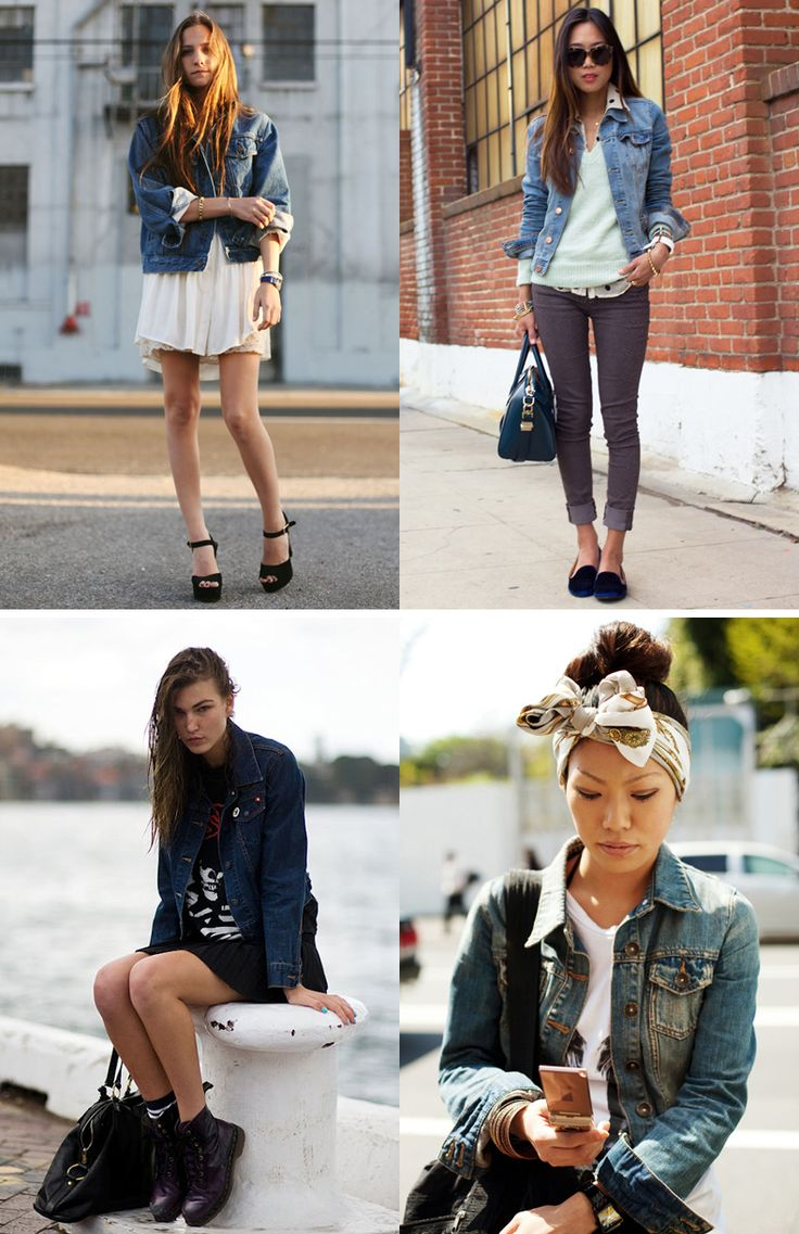 denim jackets - and what to wear with them