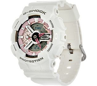 G-Shock Women's Analog Digital Pink on White Resin Watch