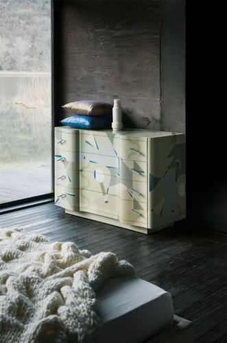 Original design chest of drawers / wood / hand-painted wood / lacquered wood CETONIA  Zanotta
