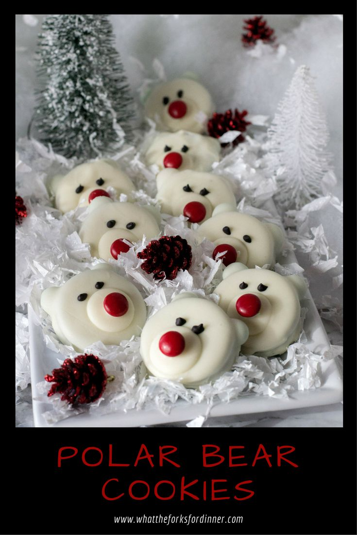 Polar Bear Cookies - Cute, no bake, easy, kid friendly. Cookie swap or classroom treat these dipped Oreo cookies are sure to be a hit.