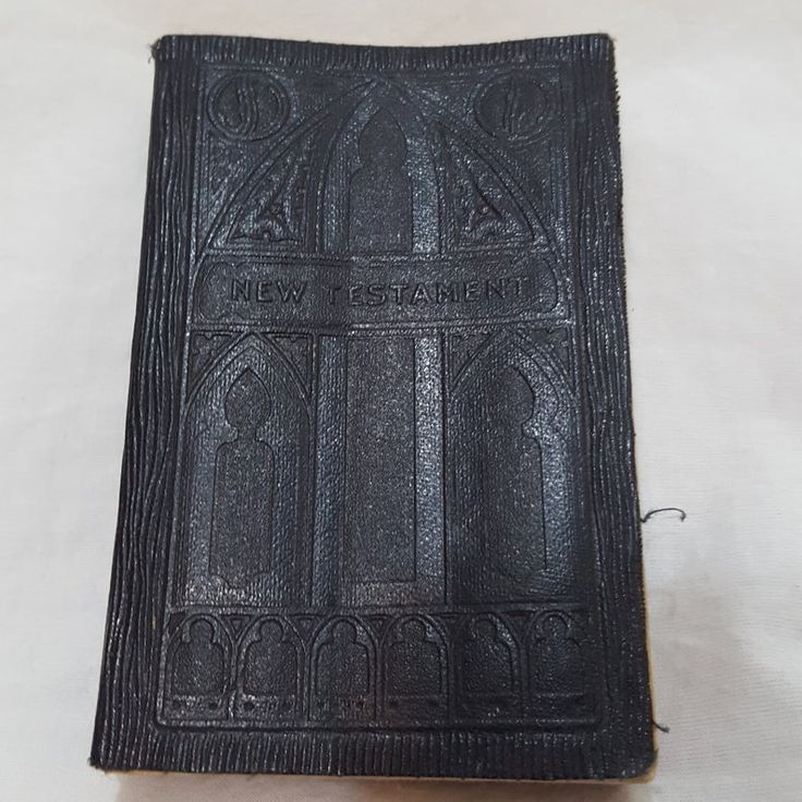 Bible new testament pocket size soft leather bound book