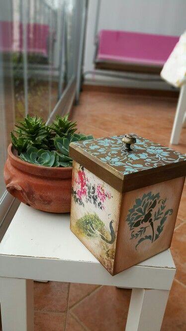 Ahşap boyama kutu Wood painting box