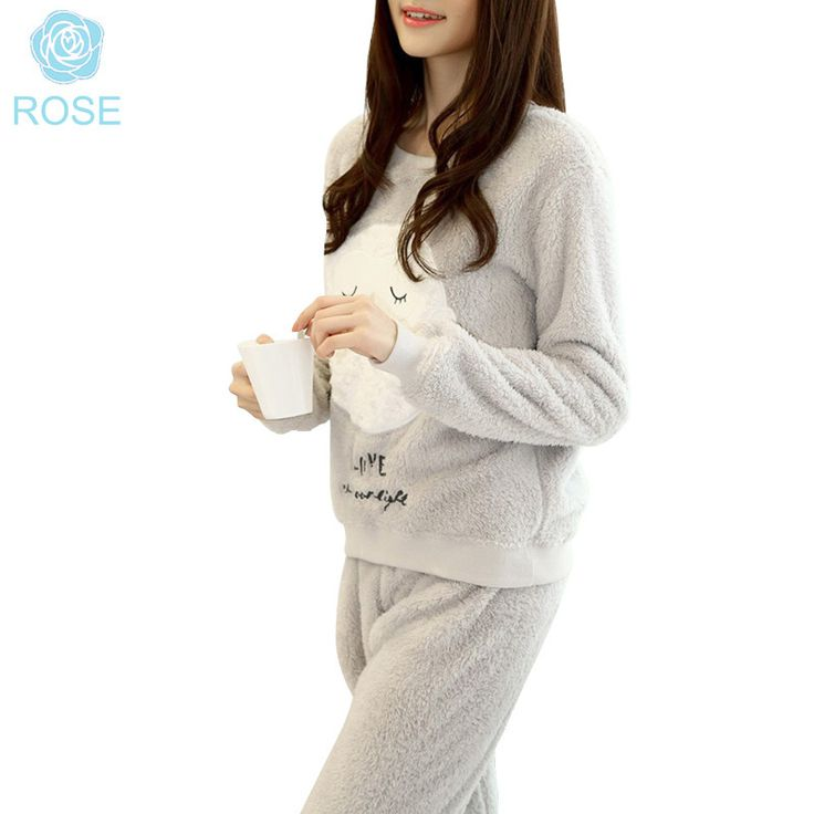 Winter New Thickened Cute Sleeping Owl Coral Fleece Pajamas Home Furnishing Suit Coral Velvet Home Wear Leisure Wear 9123