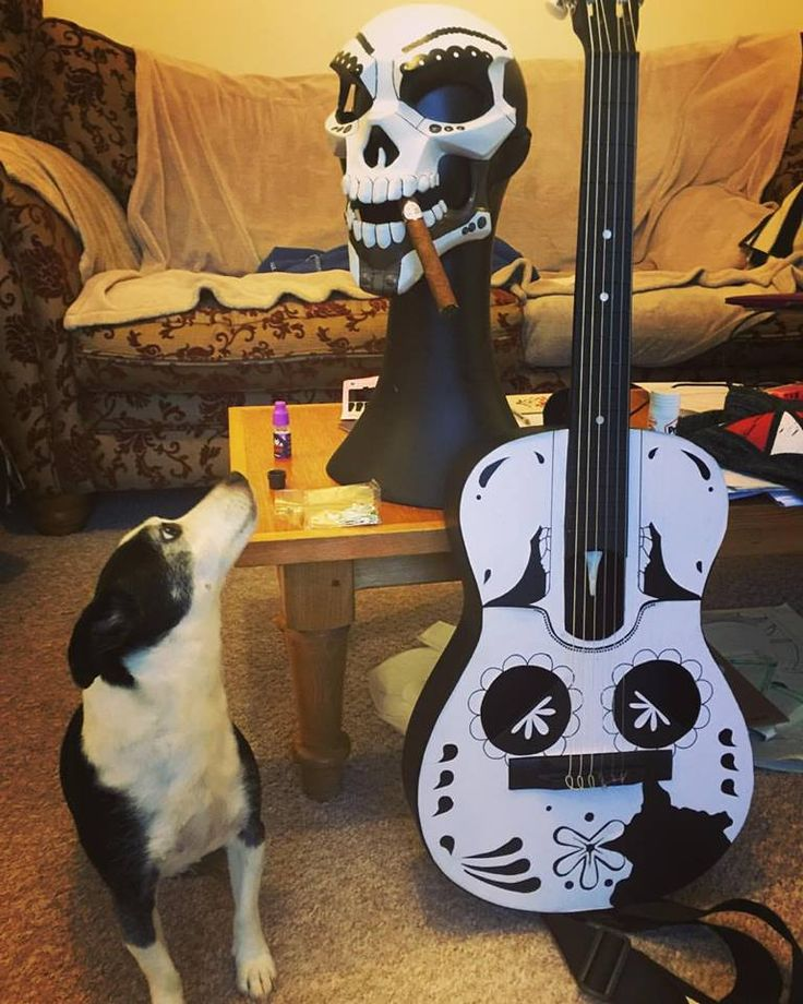Mariachi (Overwatch) Mask, Guitar, Cigar and of course the co-ordinating guard dog