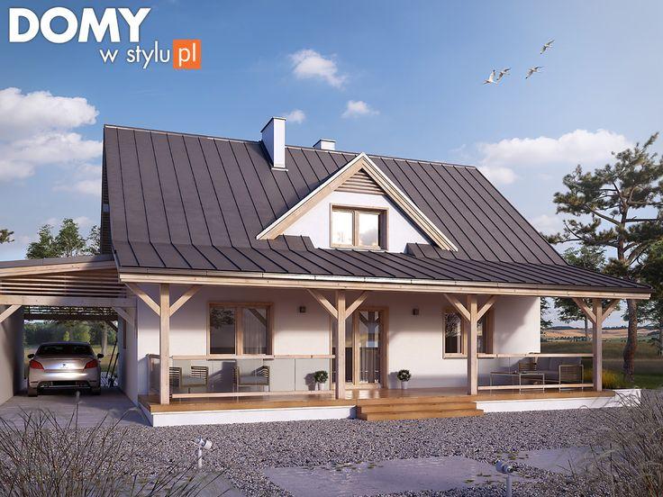 Projekt domu z werandą - Poziomkowy 2. Pełna prezentacja projektu dostępna jest na stronie: https://www.domywstylu.pl/projekt-domu-poziomkowy_2.php #domywstylu #mtmstyl #projekty #projektydomów #projektydomow #projektygotowe #dom #domy #projekt #budowadomu #budujemydom #design #newdesign #home #houses #architektura #architecture