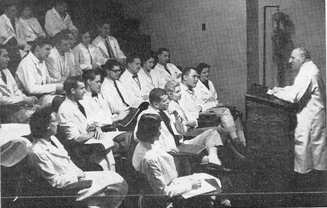 Dr Pap addressing his students