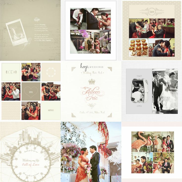 Iric & Aileen Wedding Photobook Design, photo by HOP, edit & design by Wenny Lee