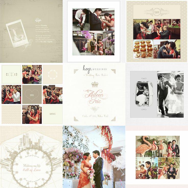 Iric & Aileen Wedding Photobook Design, photo by HOP, edit & design by Wenny Lee