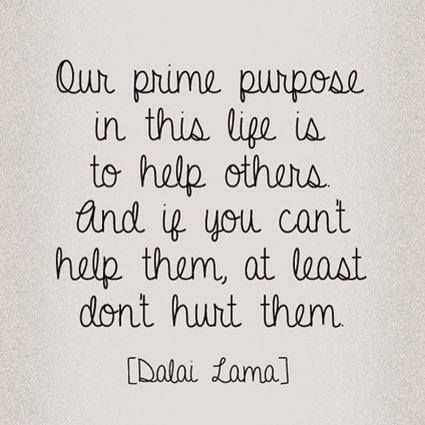 #help others #quote from the #Dalai #Lama #positiveoutlooks #facebook