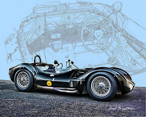 Normally I'm not that excited by a Masserati, but theres something about this. I find it a little unexpected, I suppose. Masserati Tipo 61 Birdcage