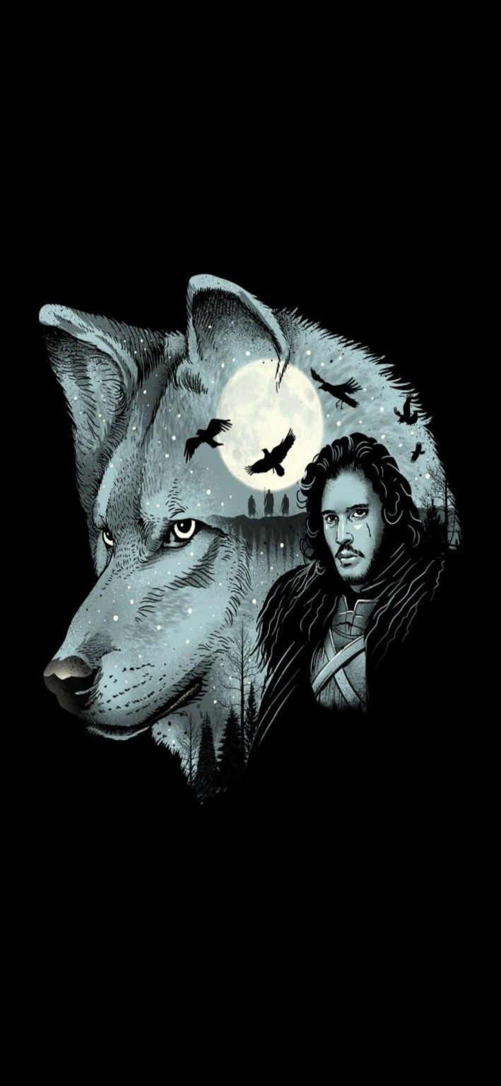 Jon Snow Iphone Wallpaper Full Hd With Wolf Ghost Traxzee In 2021 Iphone Wallpapers Full Hd Iphone Wallpaper Pattern Iphone Wallpaper