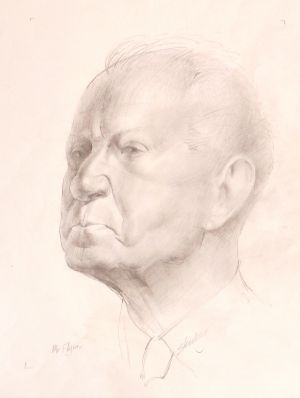 Ron Stenberg, 'Mr Flynn' (1978) Graphite on paper, 400 x 300 mm, POA at the Remuera Gallery