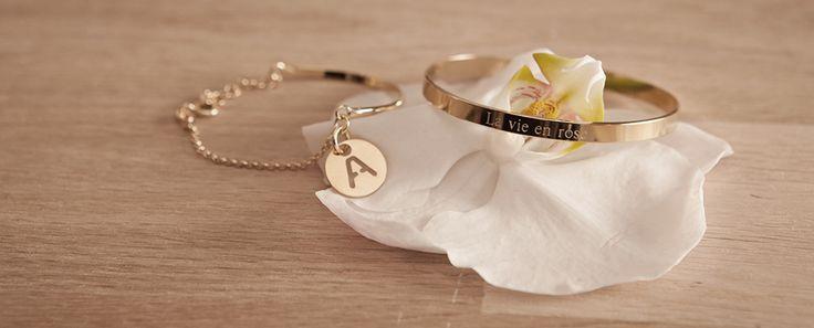 Bijoux gravés pour femme plaqué or - L'Atelier d'Amaya  #latelierdamaya #bijoux #gravure