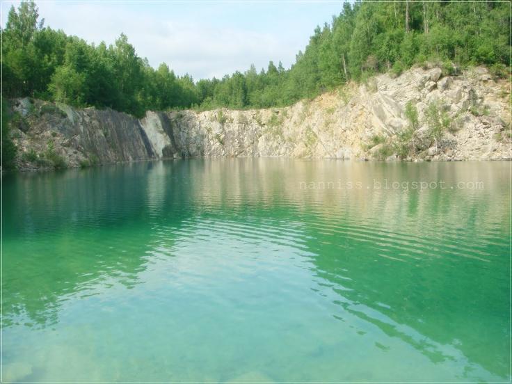 Kalkbrottet (Limestone Quarry) Nora Sweden ... the blue lagoon