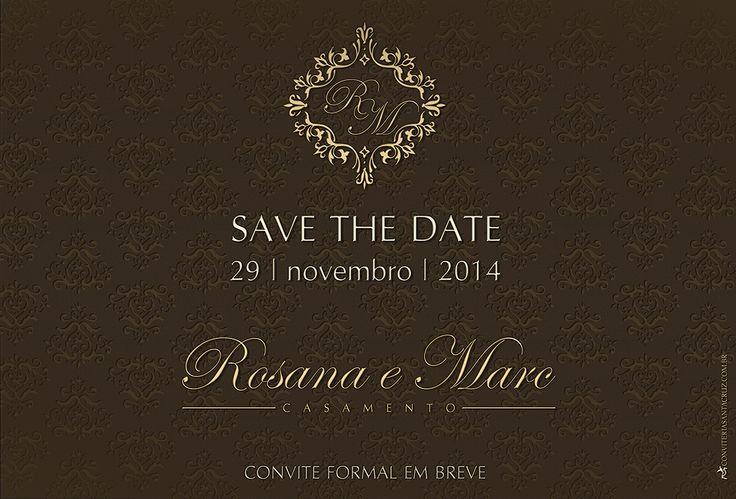 Identidade visual: Save the Date virtual clássico e elegante.