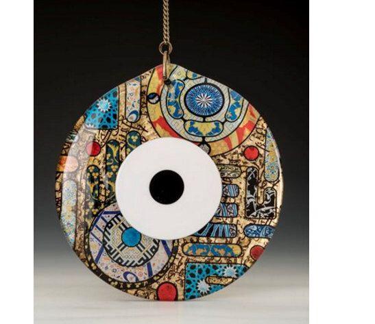 "12"" Evil Eye Handmade Glass Decorative Wall Hanging Art ( 100% handmade ) by IstanbulArtIsan on Etsy https://www.etsy.com/listing/287777143/12-evil-eye-handmade-glass-decorative"