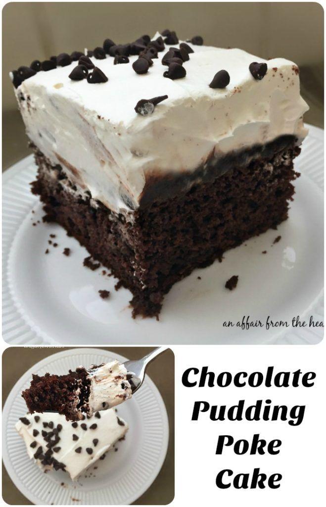 Chocolate pudding poke cake recipe food cakes devil food cakes and devil - Herve cuisine cake chocolat ...