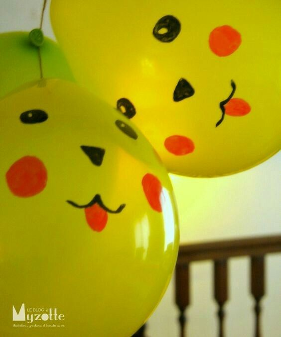 Pikachu balloons for Pokemon party