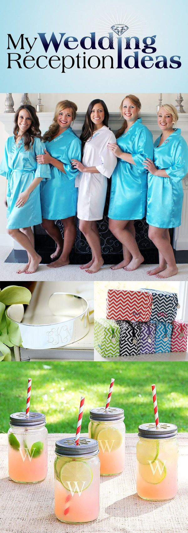 Functional bridal attendant thank you gifts your maid or matron of honor, bridesmaids, and flower girl will use before and after your wedding day.  See these gifts and more at http://myweddingreceptionideas.com/personalized_bridesmaids_gifts.asp
