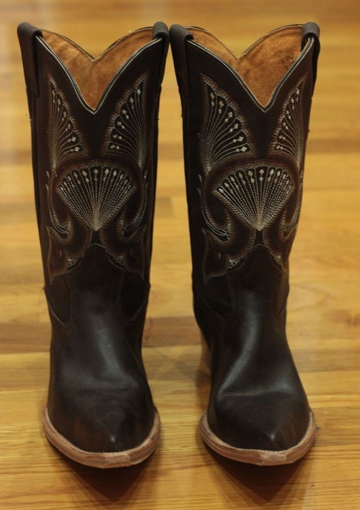 Old Corral Leather Boots Made In Mexico Sz 8 Cowboy Rodeo
