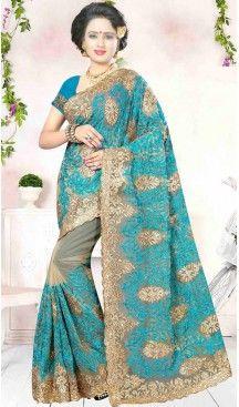 Crystals Embroidery Beige Color Net Ethnic Wear Designer Sarees   FH527280277 >>Follow Us @heenastyle <<< ------------------------------------ #traditionalwear #ethnicwear #ethniccollection #onlinesarees #photoshoot #model #designersarees #sari #designersaris #attractive #beautiful #classy #usa #newyork #newjersey #australia #italy #unitedkingdom #golden #womenscloth #womenfashion #weddingseason #weddingwear #bridalwear #heenastylesaree #sarees #blouses #party #designerblouses  #bollywood
