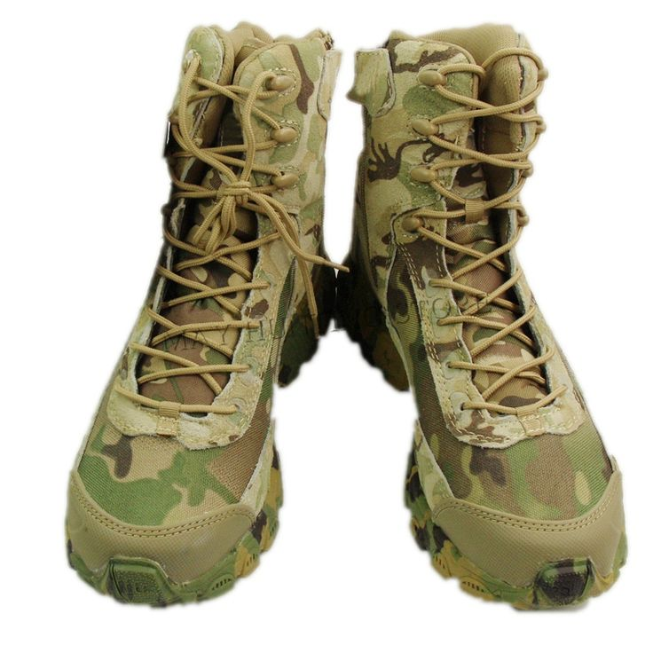 High Top Camo Tactical Boots Camping Hiking Hunting Boots Climbing Desert Shoes CP Multicam #Affiliate