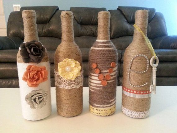 LOVE-Wine Bottle Decor by WrappedNlove143 on Etsy