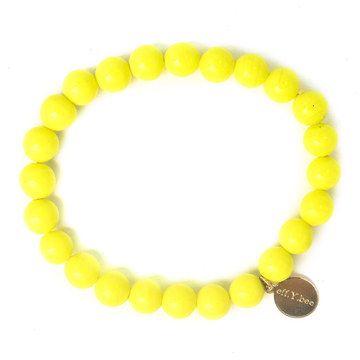 Bliss Bracelet in Neon Yellow.