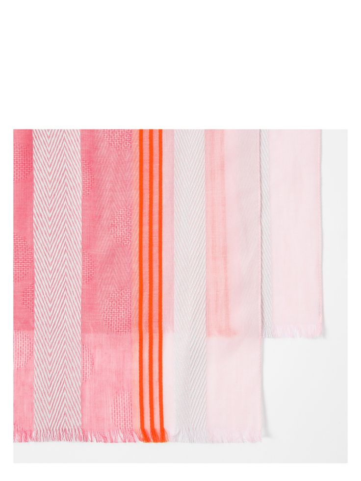 Paul Smith Women's Multi-Coloured 'Skirt Stripe' Scarf Image 3