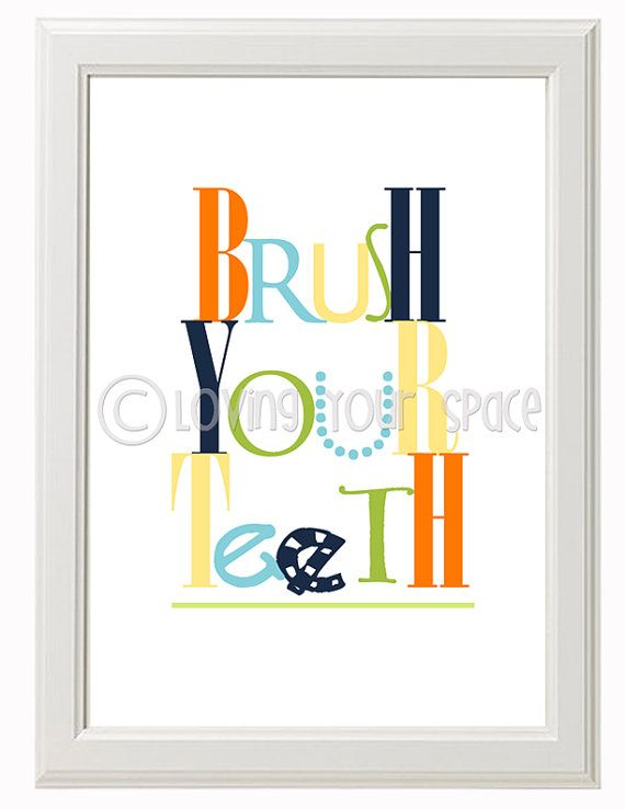Printable Kids bathroom wall art  set of 3  2 by Lovingyourspace, $5.00