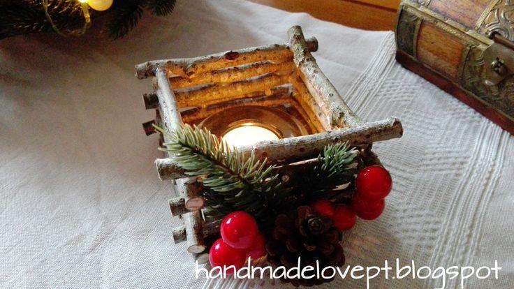 DIY Porta Velas Natalício - Christmas candle holder