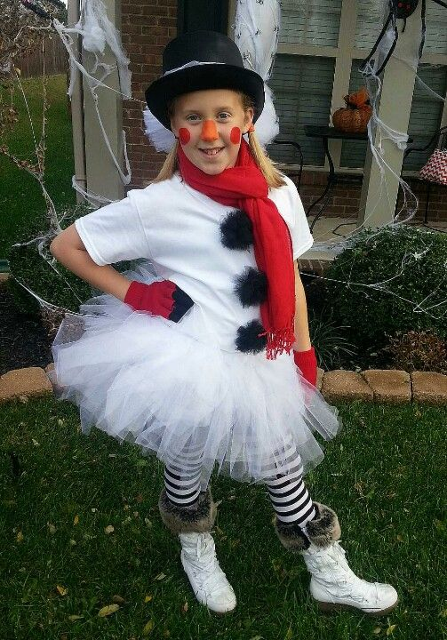 Adorable Tween Snowman Halloween Costume, Tutu Snowman