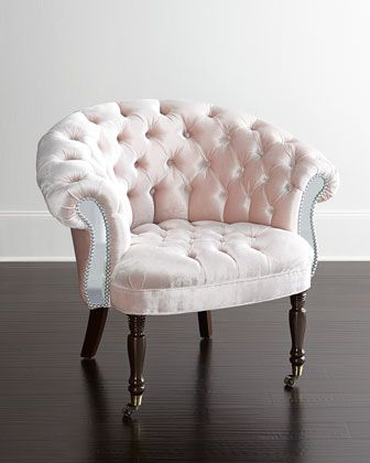 Blush+Sausalito+Mirrored+Chair+by+Haute+House+at+Neiman+Marcus.