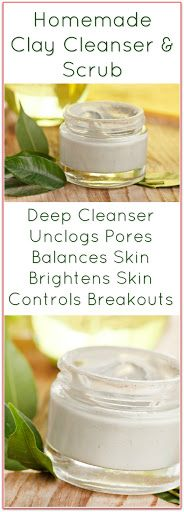 This Homemade Clay Facial Cleanser Recipe is a face scrub and cleanser all in…