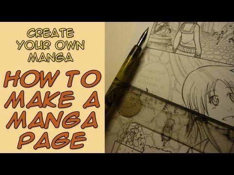 Create Your Own Manga - How to Make a Manga Page - YouTube
