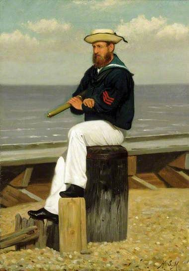 Sailor on Look Out ca.1855 by Henry Stacy Marks (1829-1898). Stacy Marks was an original member of The Artists Rifles.