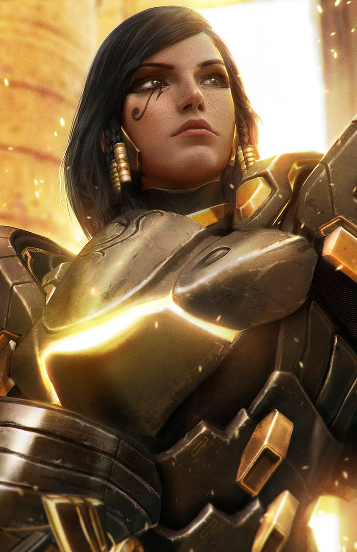 Overwatch - Pharah Artwork  This is probably the best realistic interpretation of an Overwatch character I've seen so far