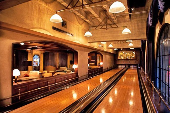 Man Cave Hollywood : Great home installed bowling alley lane